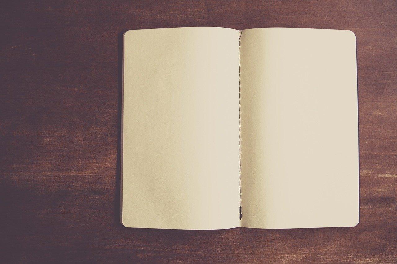 notebook, empty, paper